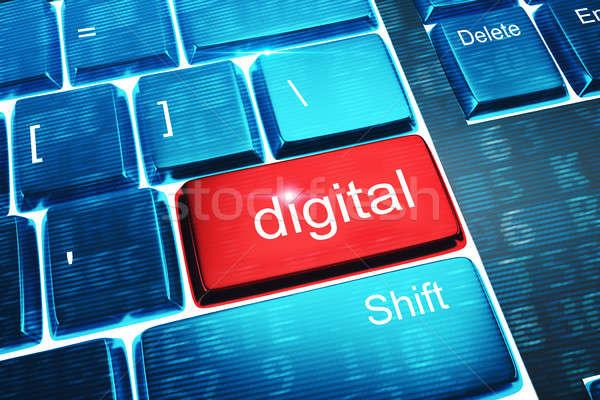 Foto stock: Digital · rojo · clave · mixto · los · medios · de · comunicación