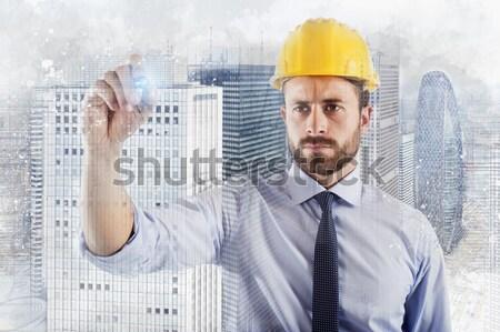 Proje inşa etmek inşaat Bina dizayn Stok fotoğraf © alphaspirit