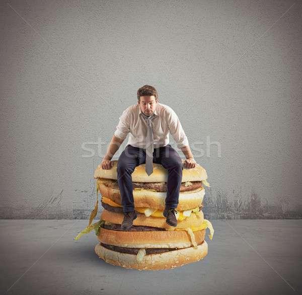 Big double sandwich Stock photo © alphaspirit