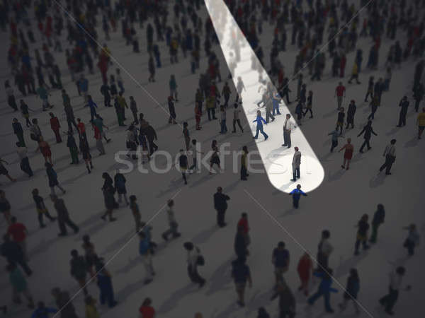 Identify in the crowd. 3D Rendering Stock photo © alphaspirit