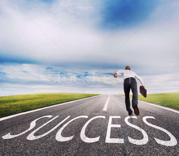 Uomo successo modo di successo imprenditore società Foto d'archivio © alphaspirit