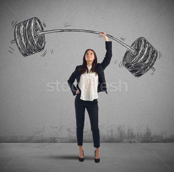 Businesswoman success Stock photo © alphaspirit