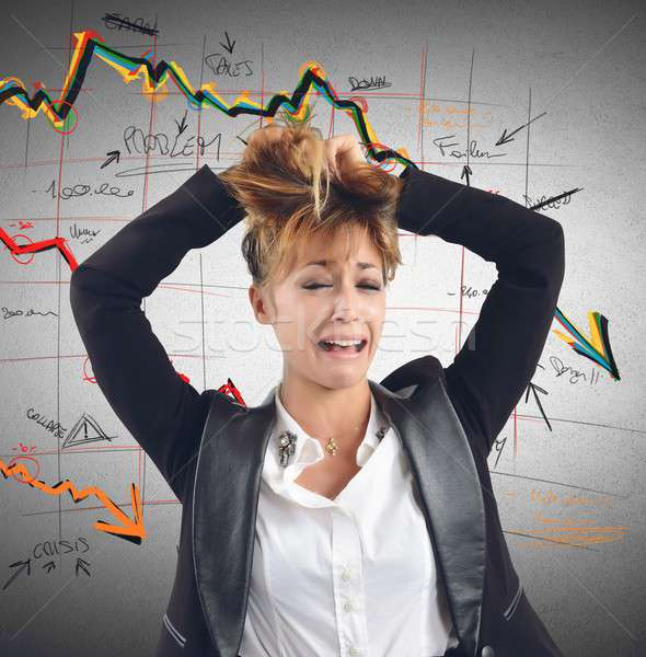 Financial collapse Stock photo © alphaspirit