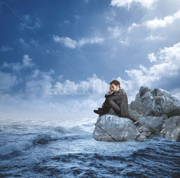 Businessman in crisis Stock photo © alphaspirit