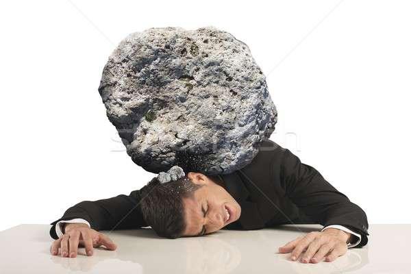 Stress of a businessman Stock photo © alphaspirit