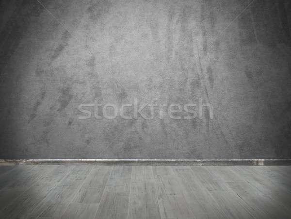 Grey wall and parquet Stock photo © alphaspirit