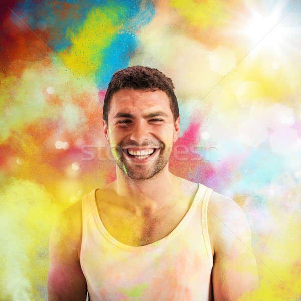Smile colored Stock photo © alphaspirit