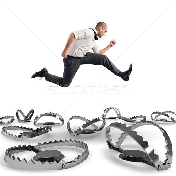 Férfi hamar üzlet sebesség verseny gyors Stock fotó © alphaspirit