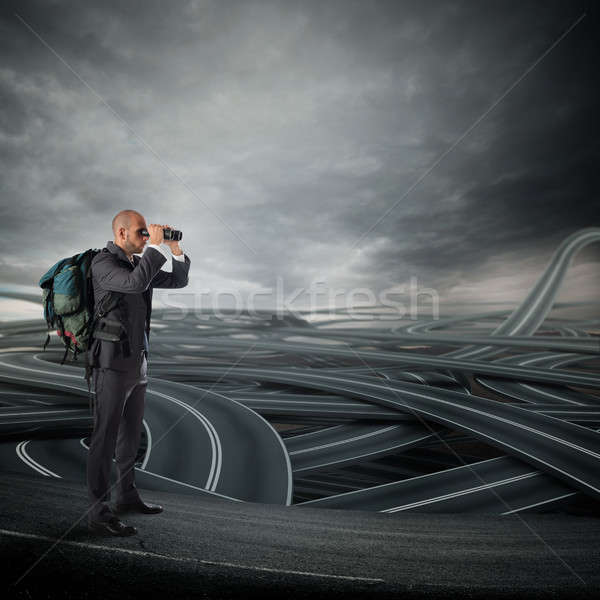 Complicated decision of business future career Stock photo © alphaspirit