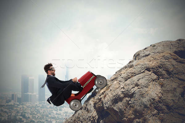 Difficult carrer with driving businessman Stock photo © alphaspirit