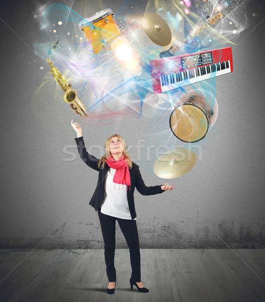 Music juggler Stock photo © alphaspirit