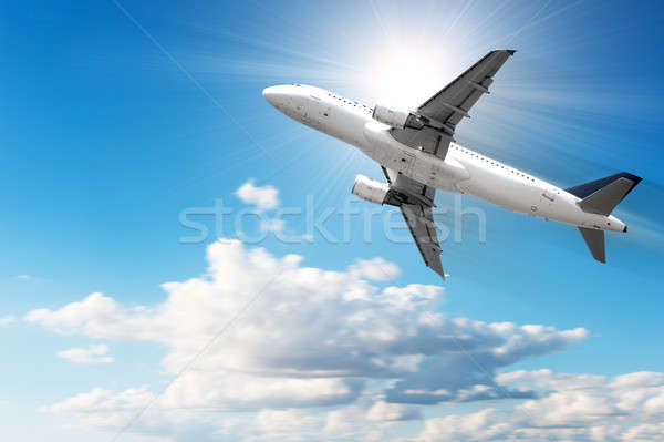 Fast airplane Stock photo © alphaspirit