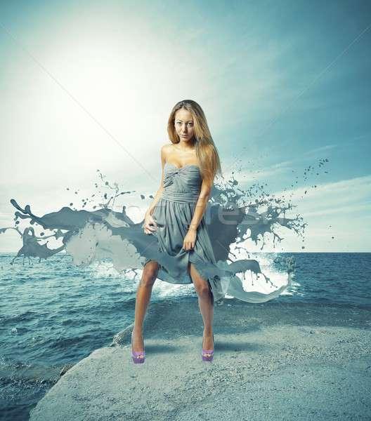 Creative fashion girl Stock photo © alphaspirit