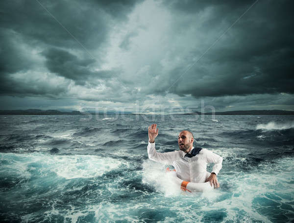 Ask for help during the storm Stock photo © alphaspirit