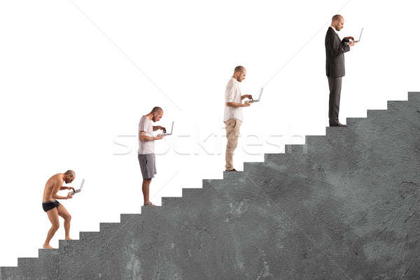 Successful man career evolution Stock photo © alphaspirit
