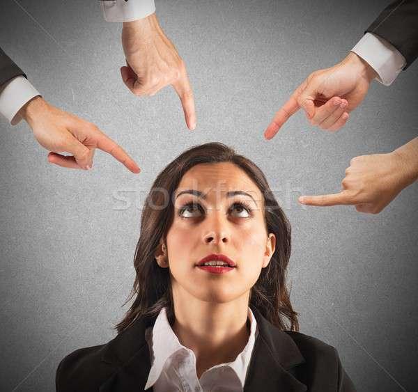Businesswoman blamed unfairly Stock photo © alphaspirit