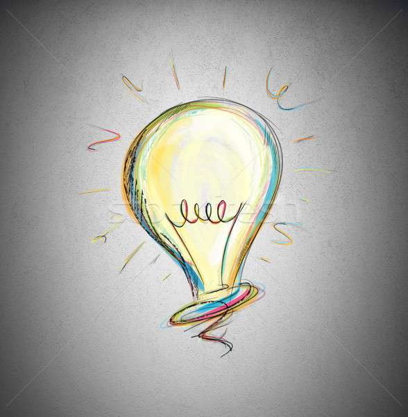 Idéia trabalhar tecnologia lâmpada energia Foto stock © alphaspirit
