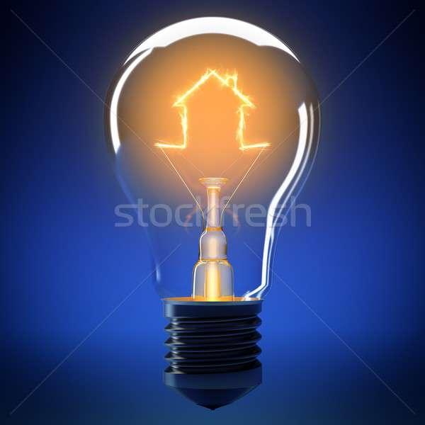 Home bulb light Stock photo © alphaspirit
