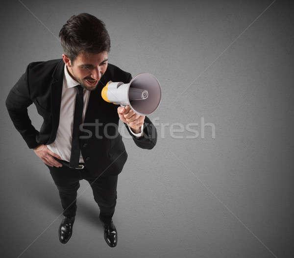 Communication on megaphone Stock photo © alphaspirit