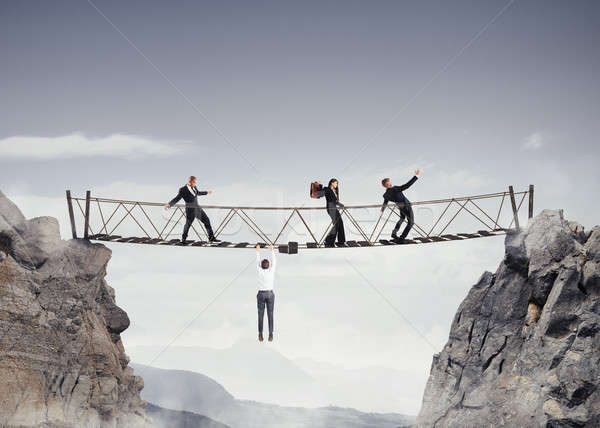 3D Rendering of unsafe bridge Stock photo © alphaspirit