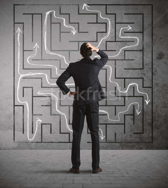 Businessman seek the solution Stock photo © alphaspirit
