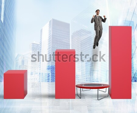 Rigged financial profit . 3D Rendering Stock photo © alphaspirit
