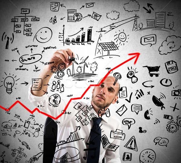 Proyecto análisis de negocio empresario plan Internet trabajo Foto stock © alphaspirit