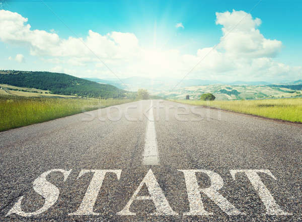 Start road of career. Concept of company startup Stock photo © alphaspirit