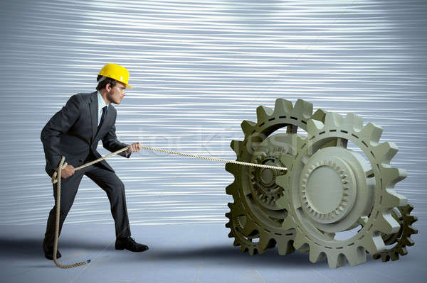 Affaires engins affaires homme travaux travailleur Photo stock © alphaspirit