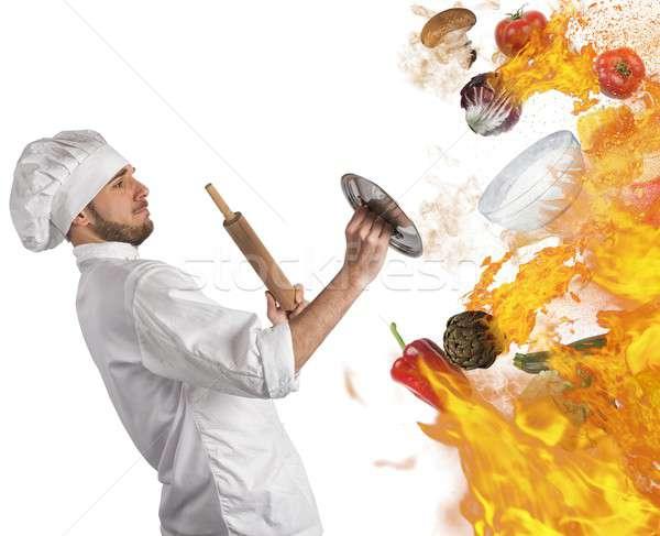 Kitchen in flames Stock photo © alphaspirit