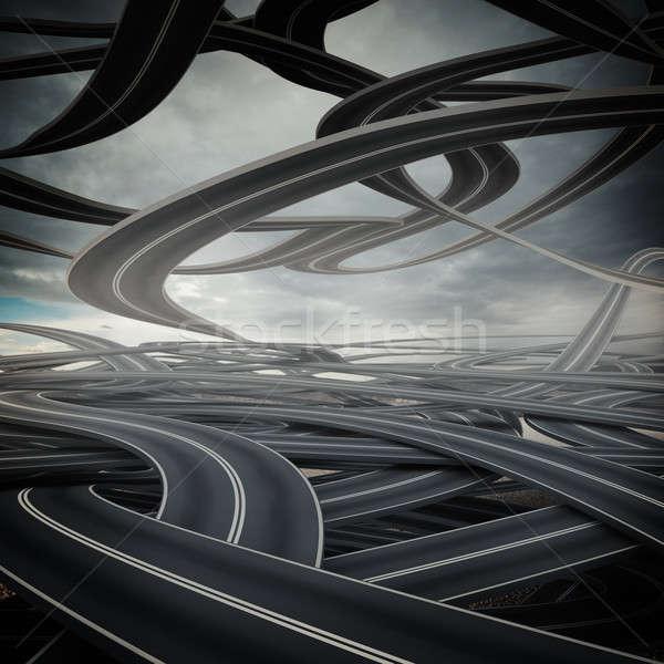 Confusing road Stock photo © alphaspirit