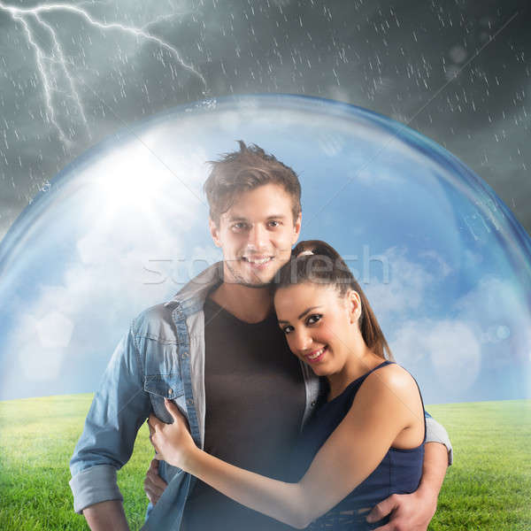Couple protects their relationship Stock photo © alphaspirit