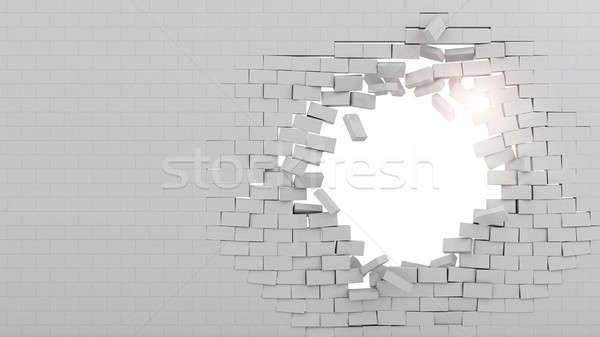 Wall broken through Stock photo © alphaspirit
