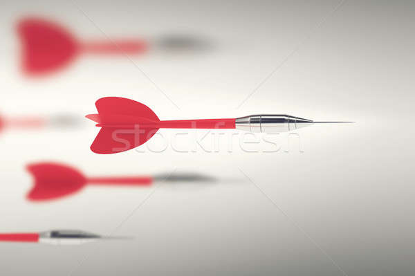 3D Rendering business competition with darts Stock photo © alphaspirit