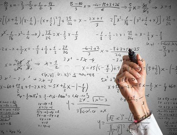 Mathematical calculation Stock photo © alphaspirit