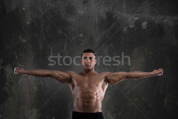 筋骨たくましい体 建物 トレーナー ボディービル 電源 筋肉 ストックフォト © alphaspirit
