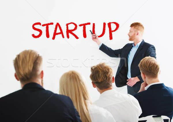 ビジネスマン 新しい スタートアップ 訓練 会議 成功 ストックフォト © alphaspirit