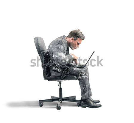 Businesswoman relax and think Stock photo © alphaspirit