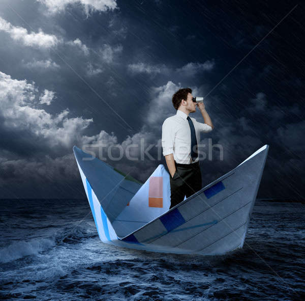 Businessman looking for opportunities Stock photo © alphaspirit