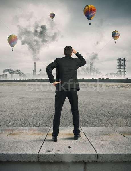 кризис будущем бизнеса человека бизнесмен Смотреть Сток-фото © alphaspirit