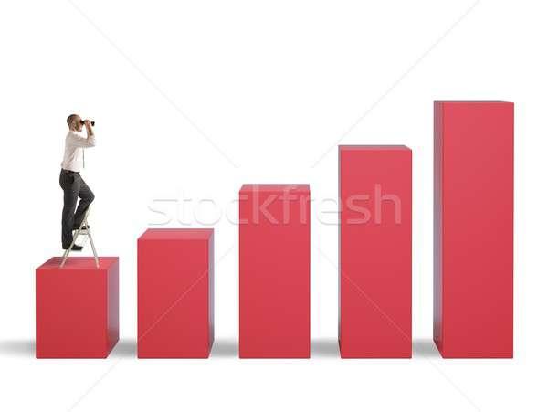 Businessman aspires to success Stock photo © alphaspirit