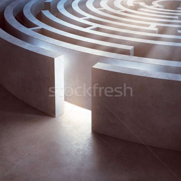 Complicated maze Stock photo © alphaspirit