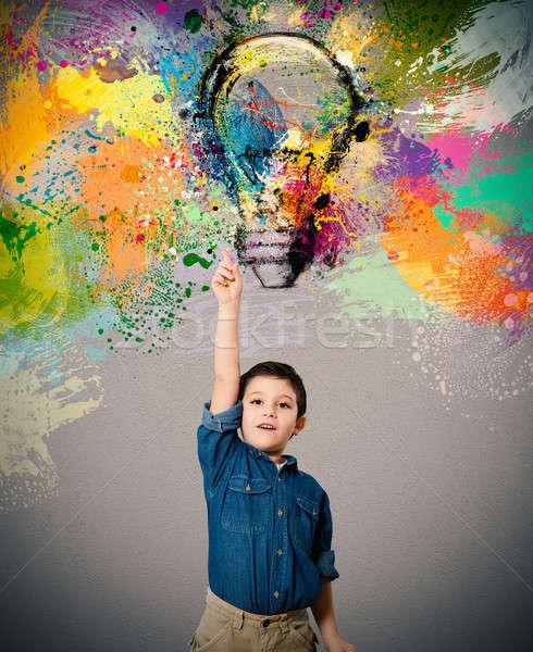 Young big idea Stock photo © alphaspirit