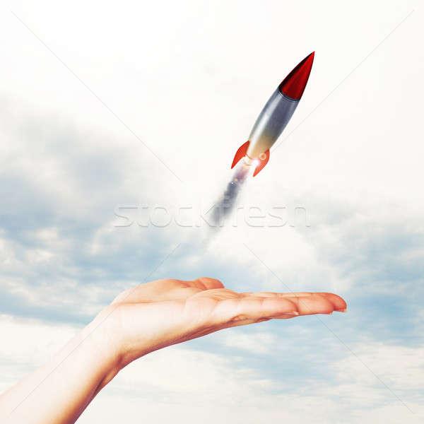 Startup werken zakenvrouw klein Stockfoto © alphaspirit
