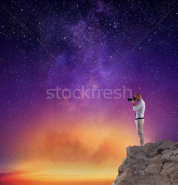 Fotograf Fotografia nieba pełny gwiazdki Zdjęcia stock © alphaspirit