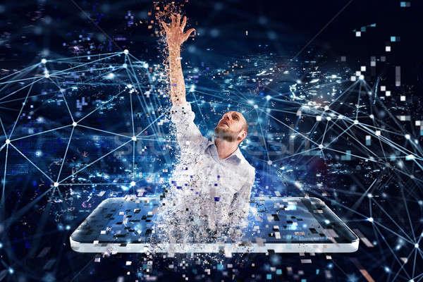 Affaires internet technologie dépendance piégé affaires Photo stock © alphaspirit