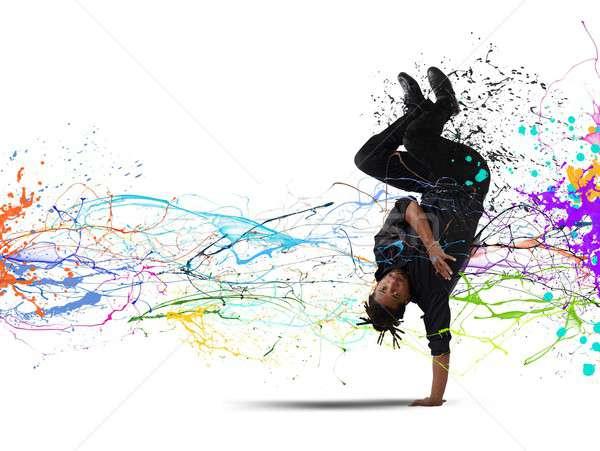 Capoeira tánc elegáns táncos férfi sport Stock fotó © alphaspirit