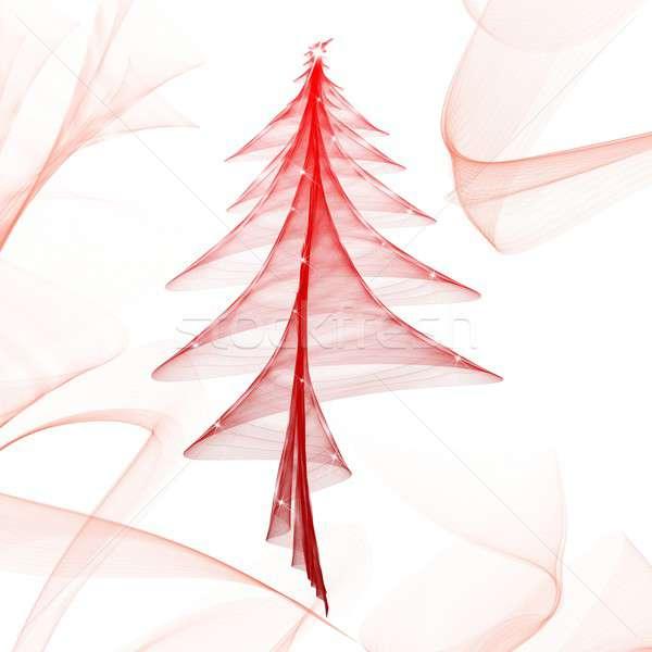 Shiny red tree Stock photo © alphaspirit