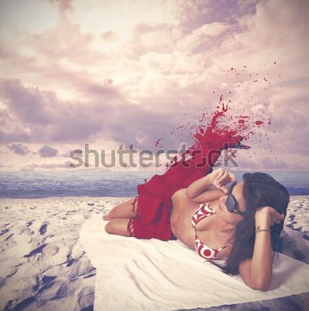Dancer paints the sky Stock photo © alphaspirit