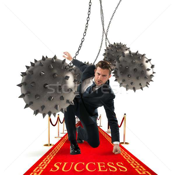 Businessman reach the success Stock photo © alphaspirit
